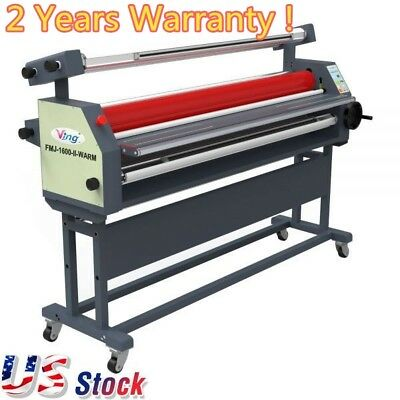 """USA - 63"""" Full - auto Wide Format Laminator Roll Heat Assisted Cold Laminator"""