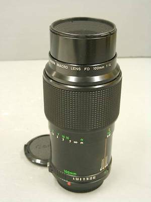 EXC+++ Canon New FD 100mm f/4 NFD MF Macro Lens from Japan