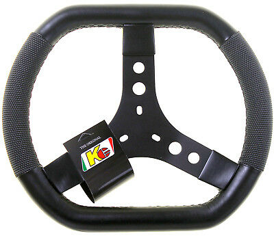 Kart KG F1 Flat Top And Bottom Steering Wheel 330mm Black