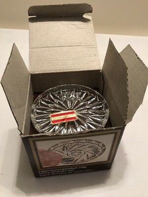 New Vintage Boxed 24% Lead Crystal Coasters X 6 Made In West Germany