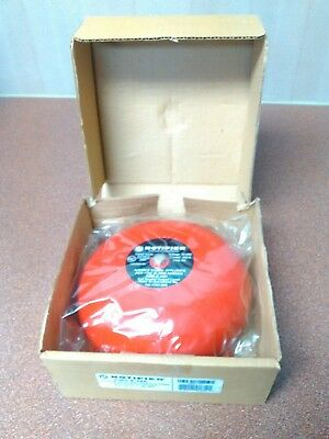 """Notifier KMS-6-24A Polarized & Supression Fire Alarm Bell 6"""" Red 24-VDC"""