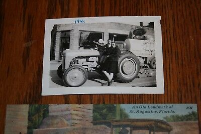 1941 Ford Tractor Dealer Original Photo Horse Carraige Race Horses Lot