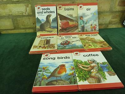 8 Vintage Ladybird book series 737 Ladybird Leaders seals and whales , trains