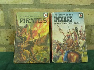 2 Vintage Ladybird book series 707 story of the Indians ,book about  Pirates