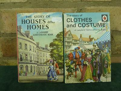 2 Vintage Ladybird book series 601 Clothes and Costume , Houses and Homes
