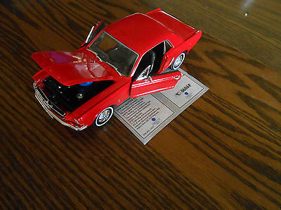 1964 Ford Mustang American Mint 1/24 Scale NEW COA Free Shipping