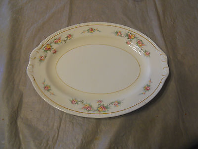 Homer Laughlin Georgian Oval Platter 12x9 F43 N5 Made in USA  Free Shipping!