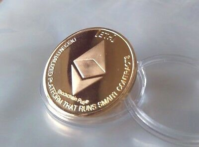 Ethereum ETH Crypto Coin Gold Colour Novelty Poker Card Guard Protector x1