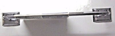 "Unused vintage Ekco chrome plated steel retro towel rack bar rod 14"" wall space"