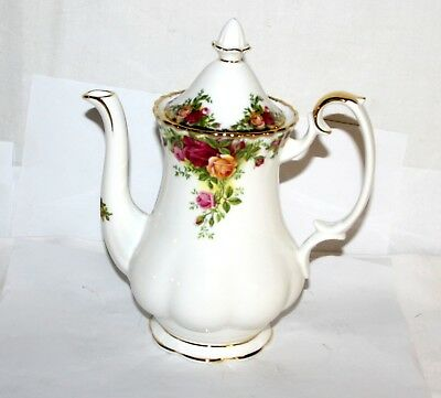 Royal Albert * Kaffee-Kanne * 22,5cm * Old Country Roses & Gold China Bone 11010