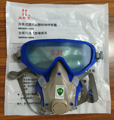 SJL Silicone Respirator Full Face Carbon Filter Gas Mask 3M Filters Not Included
