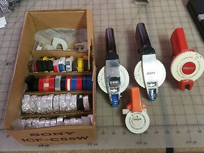Rotex 880 Label Maker & Avery & Astro  w/ 40+ Tape Lot - as Pictured