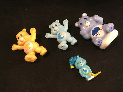 Vintage 80s Care Bears PVC Figures, Lot of 4