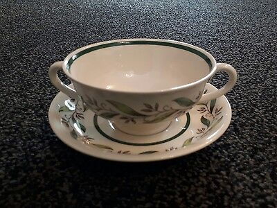Royal Doulton - Almond Willow - Soup Cup and Saucer