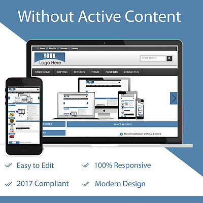 Ebay Store Design & Auction Listing Template Mobile Responsive HTTPS Secure 2018