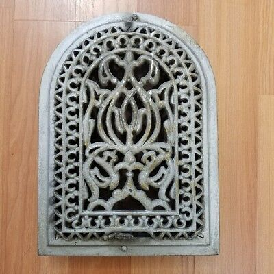 Antique Arch Heating Vent Grate Arched Wall Architectural Salvage Cast Iron