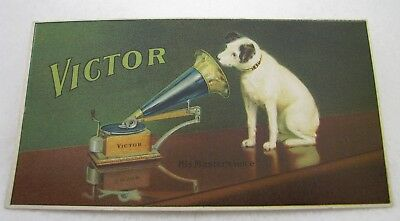 Antique Victor Talking Machine Phonograph Music Advertising Trade Card