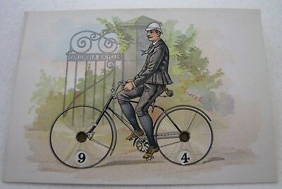 Antique Columbia Bicycles Mechanical Game Scorer Advertising Trade Card