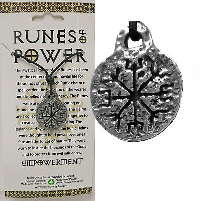 AMULET RUNE OF POWER EMPOWERMENT NORSE VIKING WICCA Pendant Necklace w/cord