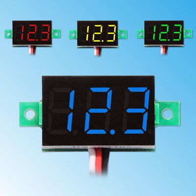 "0.36"" LED Mini Digital Voltmeter 0-100V DC Panel-Meter Spannungsanzeige Rot Blau"
