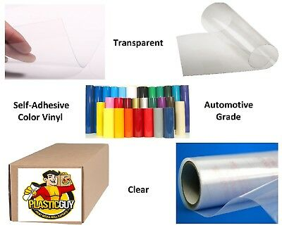 "24"" x 50yd 6yr outdoor sign vinyl film craft hobby roll sheet clear transparent"