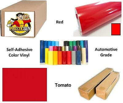"15"" x 55yd Tomato Red Oracal 651 Graphic Sign Cut Vinyl (Private Label)"