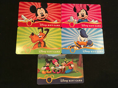 Lot of 5 Disney Gift Card Collectibles