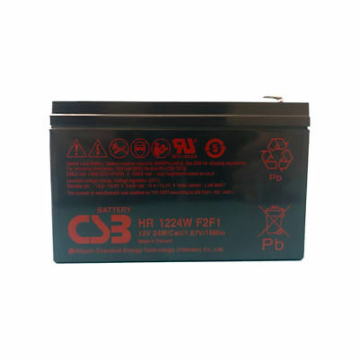 New BB CPS5.5-12  Replacement CSB HR1224WF2F1 12v 6.4Ah 24W SLA Battery