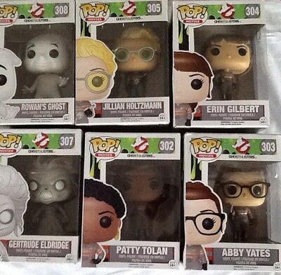 Funko Pop! Lot Of 7/. 6 Ghostbusters Characters And 1 Mystery Pop/ New