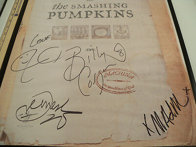 """Smashing Pumpkins Machina CD Promo Poster Signed 2000 """"ENTIRE BAND"""" Autographed"""