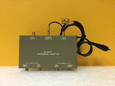 Iwatsu IE-0007 2 CH, SMA (F) Inputs / Outputs Reference Adapter + Cable + Case