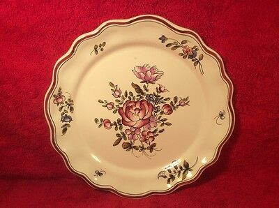 Antique Vintage French Faience Hand Painted Strasbourg Plate, ff531 GIFT QUALITY