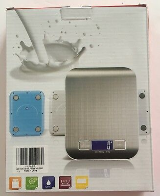 New Digital Kitchen Electric Cooking Scale Wgt Measure 11lb/5kg Stainless Steel
