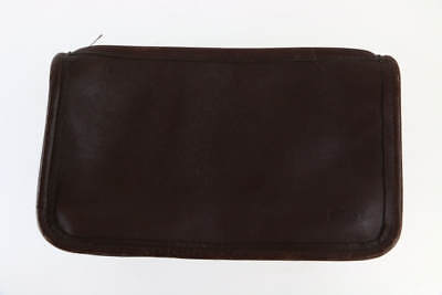 Vintage 90's Coach Brown Pebbled Leather Cosmetic Pouch Bag