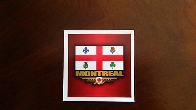2 x Sticker decal flag tuning bumper jdm car motorcycle vinyl montreal canada