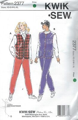 """Kwik Sew 3592 Misses/' Tops Bust 31 1//2/"""" to 45/""""   Sewing Pattern"""