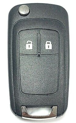 Replacement 2 button flip key case for Vauxhall Opel Astra J remote fob