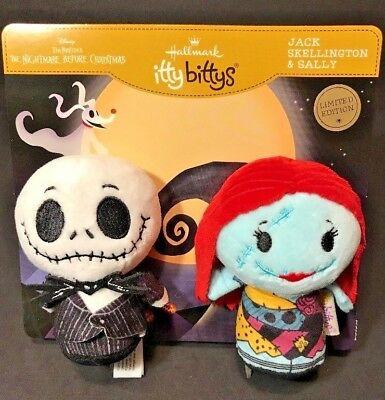 Hallmark Itty Bittys Jack & Sally Nightmare Before Christmas 2 pc Ltd Ed NEW