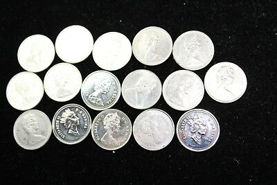 Canada 10 cent  10 assorted coins   lot H439