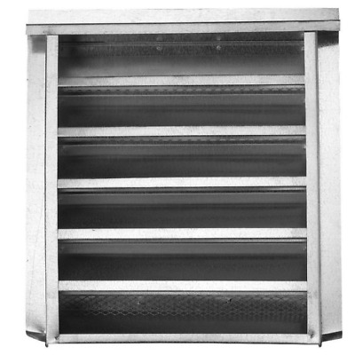 Silver Rectangle Steel Gable Vent - 14-in x 24-in - Rectangular For Attic Home
