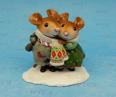 COUPLED UP by Wee Forest Folk, WFF# M-456, with Cardinal, Mouse Expo Event