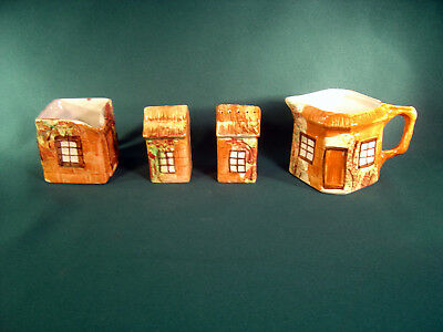 Vintage Lot of 4 Price Kensington Cottage Ware S & P ~ C & S  ~ Made in England