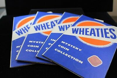 """""""Wheaties""""  4 folders with 60 coins   lot H 520"""