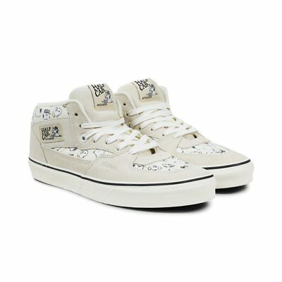 04324120c8 Vans Half Cab Peanuts Snoopy Family Marshmallow Men s Skate Shoes Size 11.5