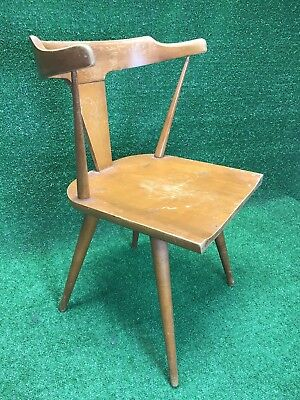 1950s Paul McCobb Planner Group Arm Captains Chair Mid Century Modern Wood