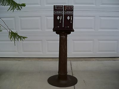 Antique 4&5 Cent Double Schermack Stamp Machine Pedestal Base Cartersville Bank