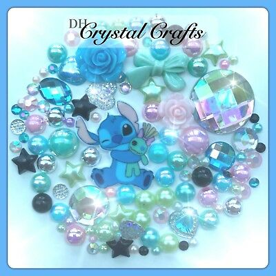 Disney Lilo And Stitch Theme Cabochon Gems & pearls Flatbacks For decoden crafts