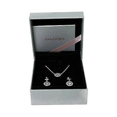 "Pandora Vintage Allure Jewelry Gift Set Necklace & Earrings 17.7"" USB796700"