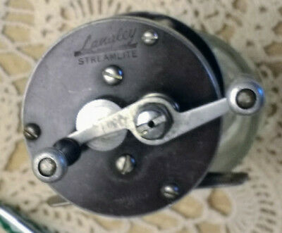 VINTAGE LANGLEY STREAMLITE FLY FISHING REEL  Model 310 KC  BAIT  CASTER