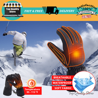 BEST Motorcycle Heated Gloves Rechargeable Battery Electric Winter Hand Warmer